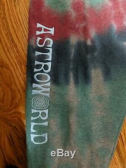 Travis Scott AUTHENTIC Astroworld Wish You Were Here Tie Dye Sweatpants Size XL