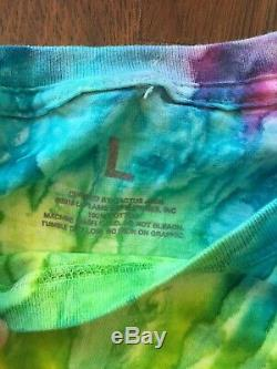 Travis Scott AUTHENTIC Astroworld Wish You Were Here Tie Dye T Shirt Size L