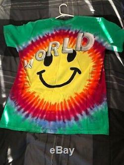 Travis Scott Astroworld Tour Tie Dye Merch T-Shirt Size Large