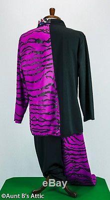 Two Face /Harvey Dent Batman Villain Costume 4 Pc Dxl Pants Faux Sht Coat & Tie