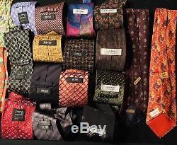 Ultra High End Tie Lot (63)-Hermes-Charvet-Brioni-FENDI-Burberry-Ferragamo-GUCCI