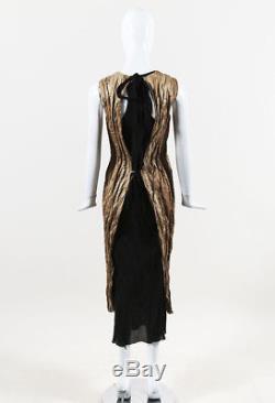 Uma Wang Brown & Black Tie Waist Racer Back Dress