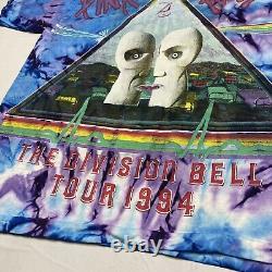 VINTAGE PINK FLOYD 1994 DIVISION BELL TOUR Tie Dye CONCERT T SHIRT XL EUC