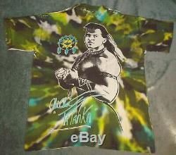 VTG 1992 TATANKA WWF ALL OVER PRINT T SHIRT MENS XL TIE DYE WRESTLING TITAN 90s