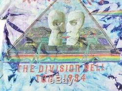VTG 1994 Pink Floyd Division Bell Tour Tie Dye Double Sided Shirt Large Band