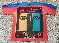 VTG 1994 Rolling Stones Voodoo Lounge Tour Concert T-Shirt Tie Dye Size XL / 2XL