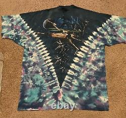 VTG 90S Star Wars All Over Print Tie Dye T Shirt Liquid Blue Tee USA Men Rare XL