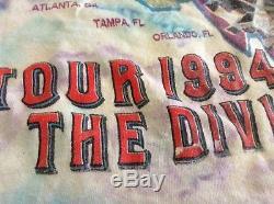 VTG 90s Pink Floyd Tie Dye Division Bell 1994 Tour concert T-shirt M USA