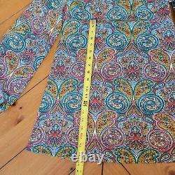 VTG MID CENTURY 60s Mod GoGo Babydoll Mini Dress Boho Hippie Flower Hair Tie