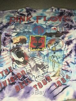 VTG Pink Floyd The Division Bell Tour 1994 T Shirt Large Tie Dye NOT A REPRINT