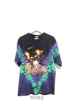 VTG Universal Studios Revenge of the Mummy Ride T Shirt Tie Dye RARE No Soul Lg