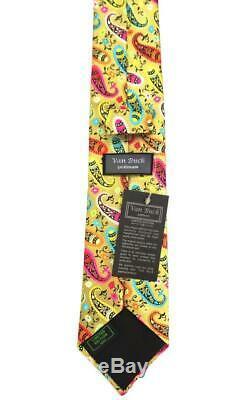Van Buck Of England, Stunning Handmade Multicolor'modern Paisley' Tie, Freepost