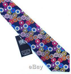 Van Buck Of England, Vibrant Handmade Multicolor'paper Daisy' Tie, Freepost