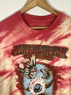 Vintage 1989 Rick Griffin Jimi Hendrix Tie Dye T Shirt Eye Ball VTG 80s (Rare)