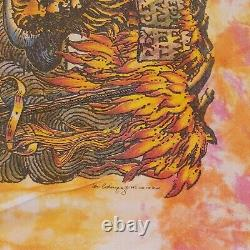 Vintage 1992 Grateful Dead Artist Ian Bohorquez Shirt Liquid Blue XL Tie Dye