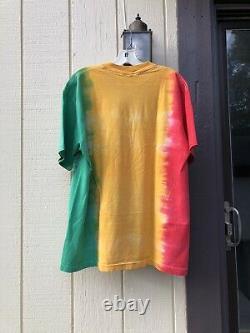 Vintage 1993 Bob Marley Tie Dye All Over Print T Shirt XL Mosquitohead USA Rasta