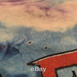 Vintage 1994 Pink Floyd Division Bell Concert Tour Tie-Dye Shirt Mens Size L/XL