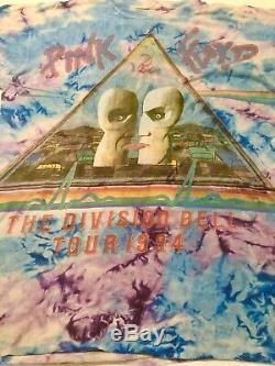 Vintage 1994 Pink Floyd Division Bell Tour Tie Dye XL Concert Tshirt