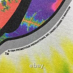 Vintage 1994 The Rolling Stones Tie Dye Liquid Blue XL Band Tour T Shirt RARE