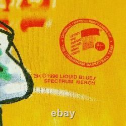 Vintage 1996 Lithuania Grateful Dead Basketball Tie Dye Liquid Blue Shirt