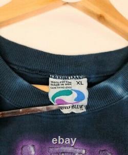 Vintage 1997 Star Wars Liquid Blue Tie Dye 2sided TShirt Size XL