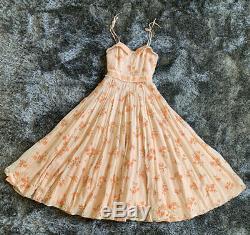 Vintage 70s Gunne Sax Style FULL SKIRT Prairie Maxi Dress Floral Boho