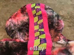 Vintage 80s GOTCHA Crazy Multi-Color Tie-Dye Surf Pullover Jacket Adult Size L
