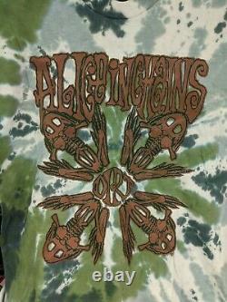 Vintage 90s Alice In Chains Dirt Era Tie Dye T Shirt Size XL Ex Condition RARE
