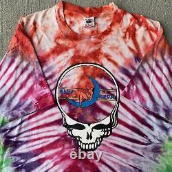 Vintage 90s Grateful Dead T-Shirt Blue Moon J Converse Lot Tee Tie Dye Size XL
