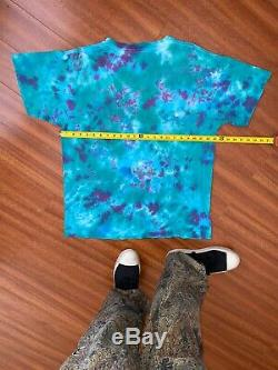 Vintage 90s Shroom Mushrooms T Shirt Tie Dye T Shirt Sz XL Trippy Psychedelic