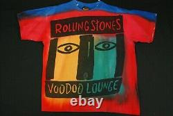 Vintage 90s The Rolling Stones Voodoo Lounge T Shirt Tie Dye T Shirt Mens XL