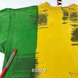 Vintage BOB MARLEY Tie Dye T-Shirt Size XL 90s Mosquitohead Reggae Rap Tee