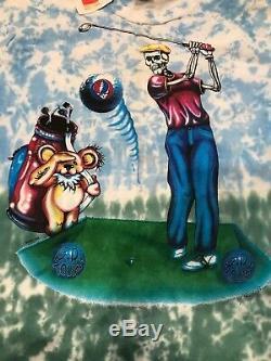 Vintage Grateful Dead 1994 Tour Band Tee T Shirt Large Single Stitch Tie Dye DS
