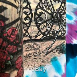 Vintage Grateful Dead 30 Years 1965-1995 90s VTG Tie Dye Liquid Blue T Shirt L