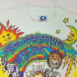 Vintage Grateful Dead Shirt XL 1992 OG Psychedelic Jerry Garcia Tie Dye Brockum