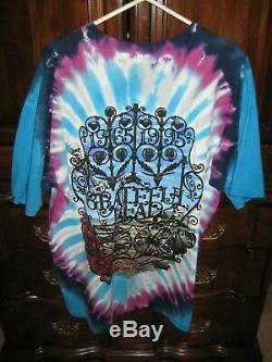 Vintage Grateful Dead T-Shirt 1965-1995 Tie Dye Liquid Blue Size XL