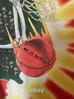 Vintage Grateful Dead T-Shirt 1992 Lithuania Basketball Olympics Tie-Dye Size XL