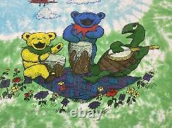 Vintage Grateful Dead T-Shirt 1992 Spring Tour Dancing Bears Tie Dye Tagged XL