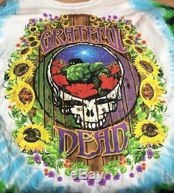 Vintage Grateful Dead T Shirt'Terrapin Station Tie Dye Size XXL 1999 LS