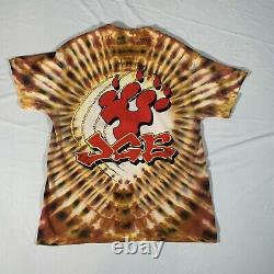 Vintage Jerry Garcia Band 1989 Tour T-Shirt XL Grateful Dead Tie Dye Hanes USA