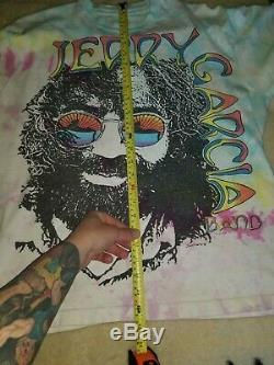 Vintage Jerry Garcia Band T Shirt Long Sleeve Grateful dead Tie Dye