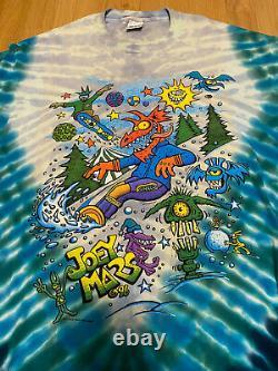 Vintage Joey Mars Double Sided Tie Dye Snowboard Grateful Dead T Shirt size XL