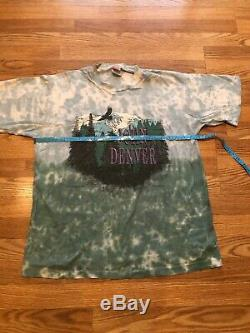Vintage John Denver 1997 Tie Dye T-Shirt Men XL Eagle over Snow Capped Mountains