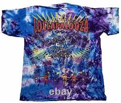 Vintage Lollapalooza Festival Ft. Smashing Pumpkins Tie Dye Shirt (1994)