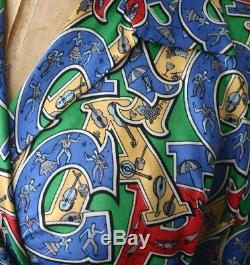 Vintage MARIORITA Capri Print Wrap Tie Blouse 50s