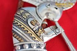 Vintage Navajo Native American Tommy Singer Large Kokopelli Bolo Tie Sterling