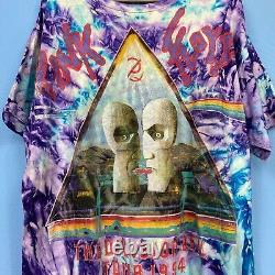 Vintage Pink Floyd The Division Bell Concert Tour 1994 T-Shirt Tie Dye XL Rare
