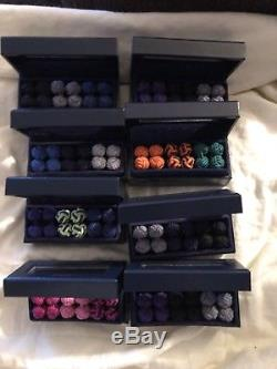 Vintage Polo Ralph Lauren Silk Knots Cufflinks With Ralph Lauren Storage Box