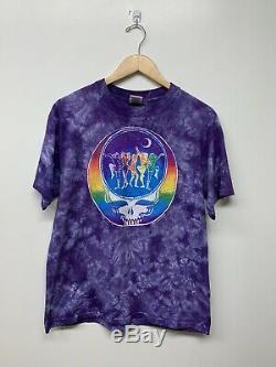 Vintage RARE Grateful Dead 1996 Band T Shirt Vtg Rock Purple Tie Dye Multicolor