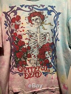 Vintage Rare 1990 Grateful Dead Wagon Wheel Brockum Tie Dye T-shirt Size XL